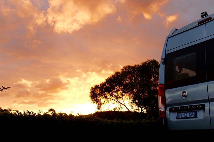 Sunset & our Torino motorhome