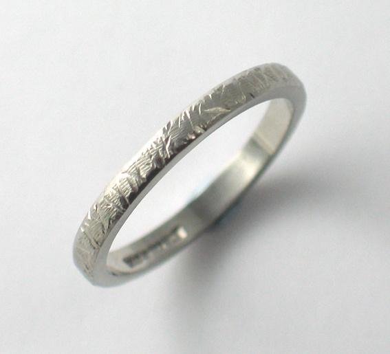Palladium Textured Wedding Ring.  www.fluidity-design.co.uk