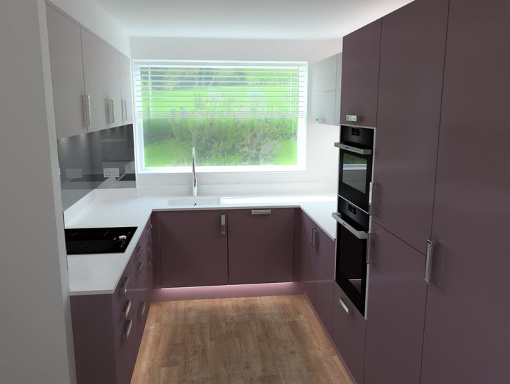 Custom Smooth Painted Kitchen With 20mm Quartz Work Surfaces, NEFF  Appliances And Smoked Mirror Part 28