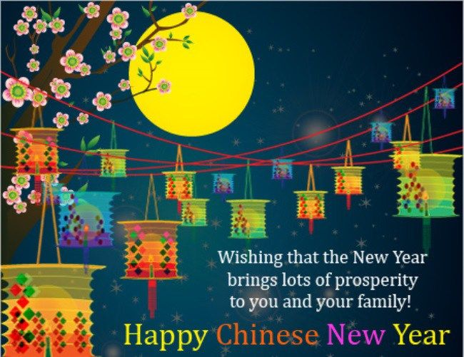 Chinese New Year Greeting Message Business Quotes Images Free Chinese New Year Greeting New Year Greetings Quotes Chinese New Year Card