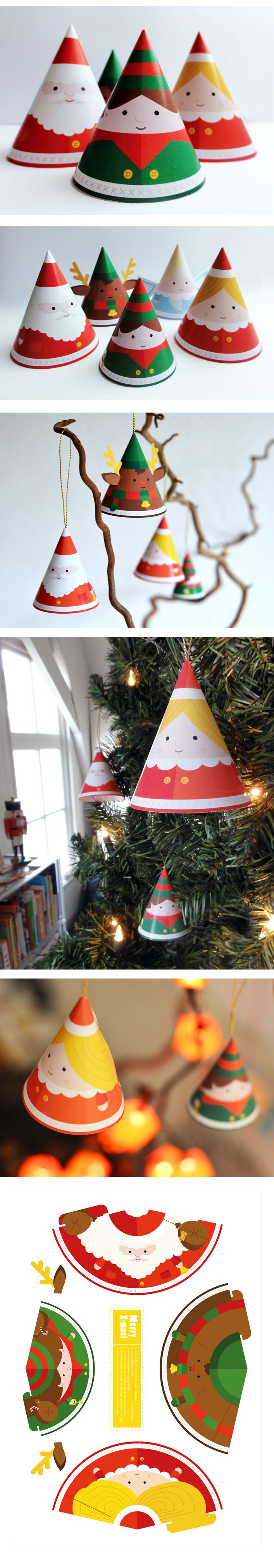 FREE printable Christmas ornaments