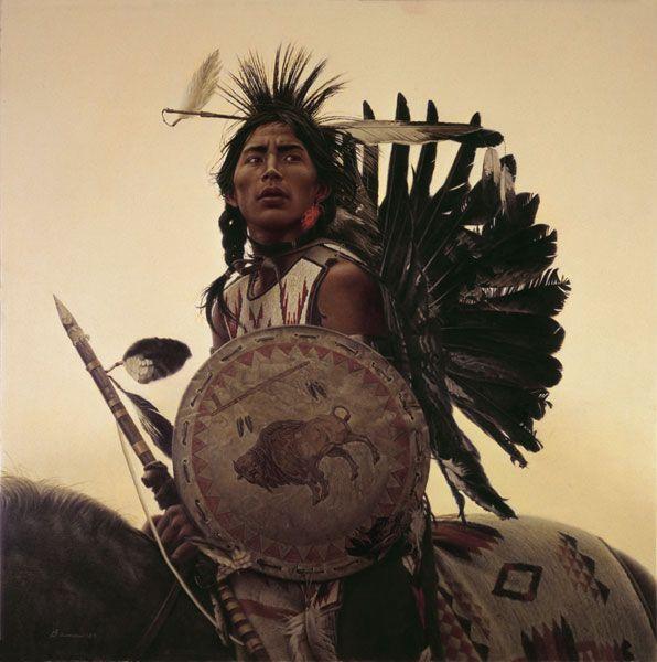 """Durante la década de 1860, James Bama fue 1 de 4 hermanos jóvenes nativos americanos, que eran Pow-Wow bailarines de indios de las llanuras de las tierras centrales. Él y sus hermanos son más famosos por sus danzas de guerra, en las que estos hombres son descritos como ciertos """"portadores de la muerte"""". Estos bailes y tocados son los dos elementos de importantance mágico y espiritual para los indios de las llanuras."""