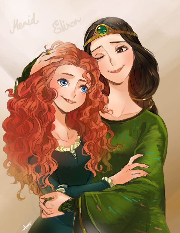 Merida & Queen Elinor, Brave by ANO @ANO_Sbee                                                                                                                                                     More