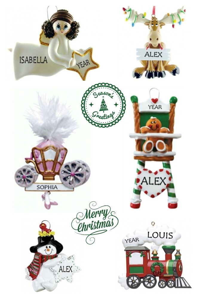Personalised Christmas Ornaments for Children. Kids love to see their name painted on these Christmas Tree Decorations. WowWee.ie | €12.50