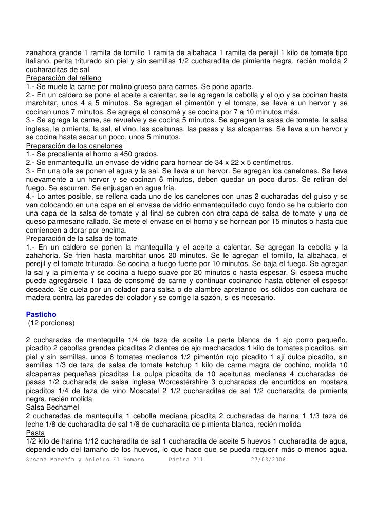 PASTICHO - PARTE 1 3    armando-scannone-recopilacin-de-recetas - human resource entry level resume