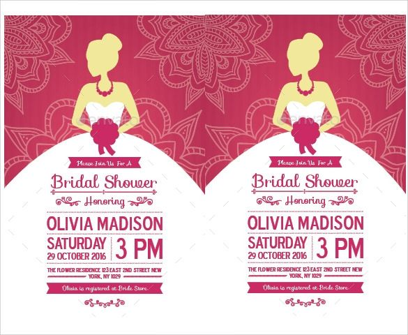 Free 37 Best Bridal Shower Invitation Templates In
