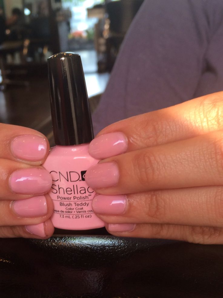 CND Shellac Blush Teddy for the wedding day!