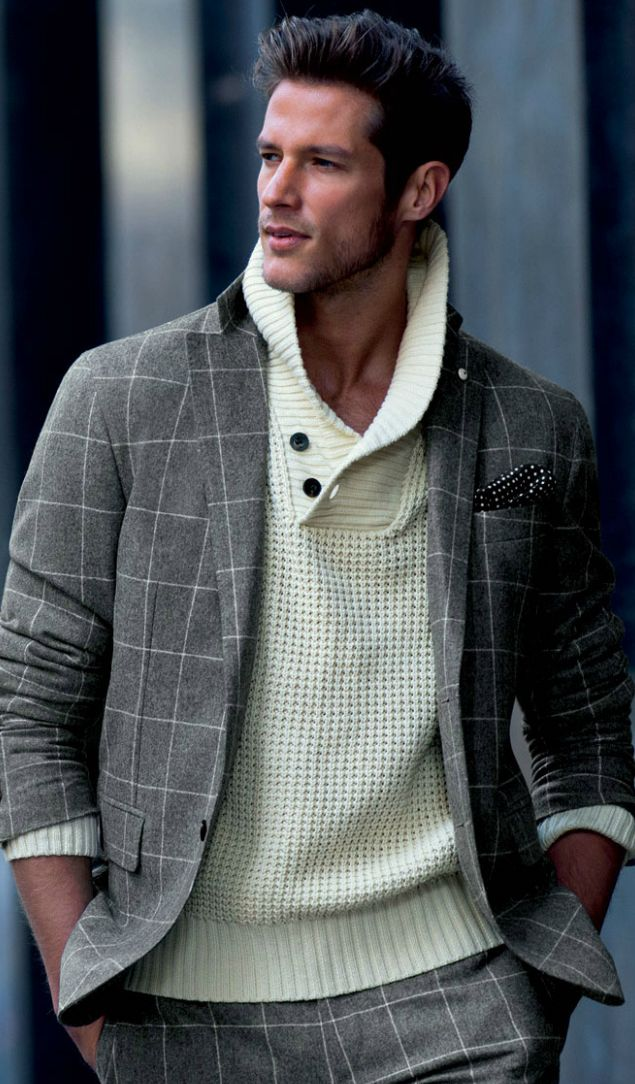 sporty man with style masculine & elegance