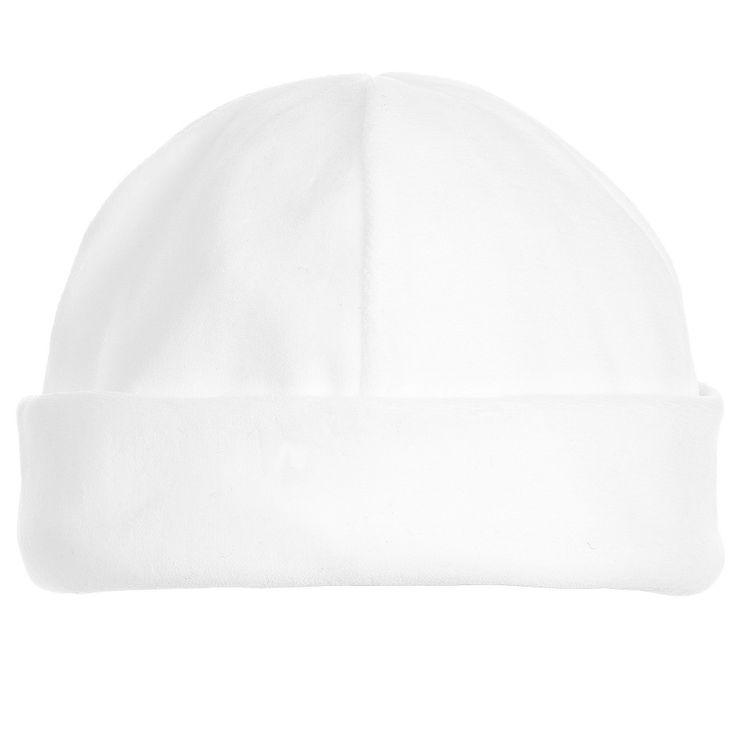 Petit Bateau Baby White Velour Hat at Childrensalon.com