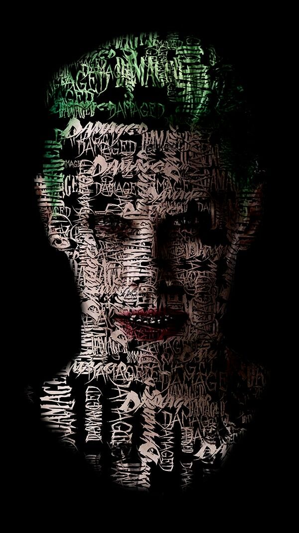Joker Damaged Typography; Suicide Squad, Jared Leto by Cory W.