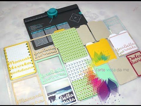 Card Project Life Fai da te con Envelope punch board e Silhouette Cameo ft.Le perle di Vale - YouTube