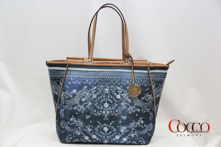 BORSA IN TESSUTO MANICI SCERVINO STREET LINEA  ETOILE DENIM ART.257 BLUE