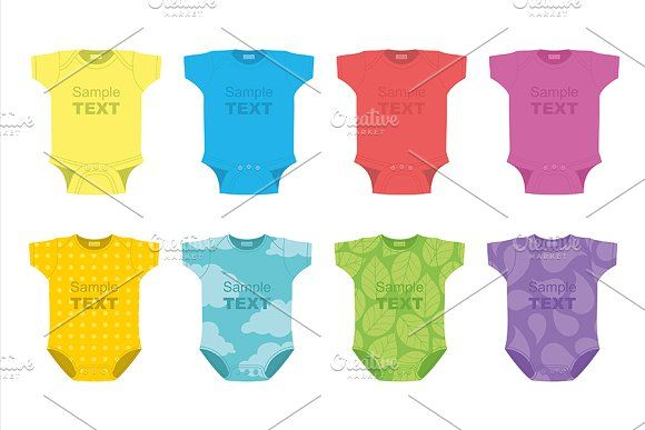 Baby clothes by volyk on @creativemarket
