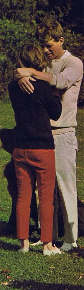 Bobby Kennedy comforts his daughter Kathleen