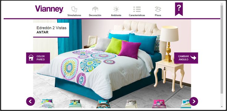 1000 ideas sobre colchas vianney en pinterest edredones for Simulador habitaciones online