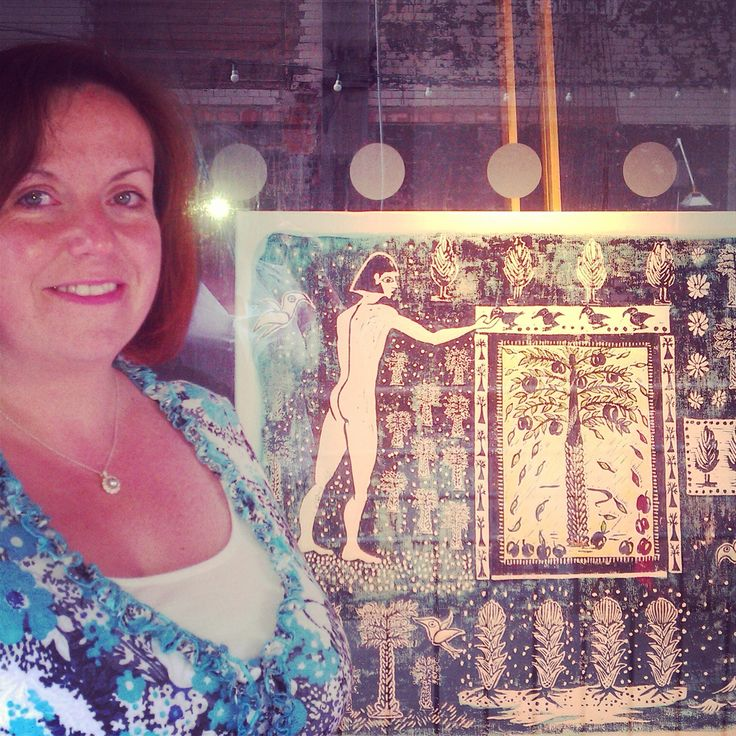 Jennifer's painting EDEN -inspired by her families garden.