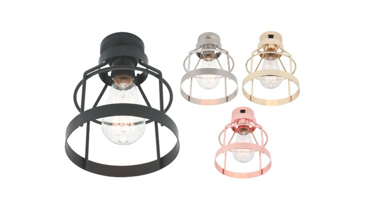 Zito DIY Batten Fix Shade Black, Copper, Polished Brass or Brushed Chrome Cage Mercator MA7771, $39.00