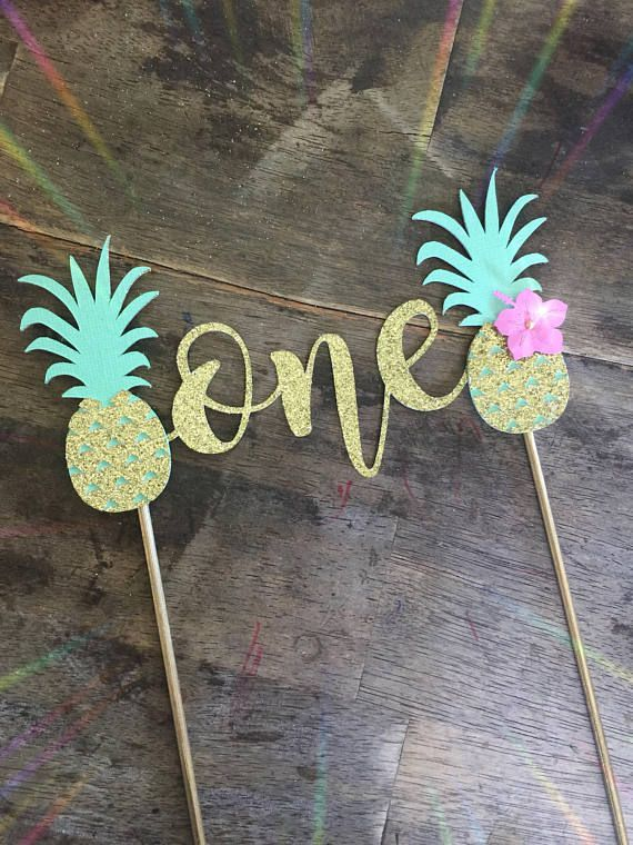 Pineapple Cake Topper First Birthday Luau