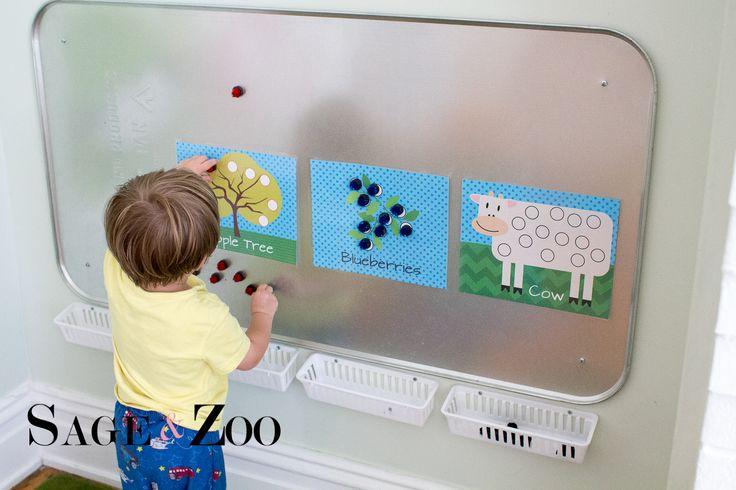 Cute Farm Themed Magnet Activity