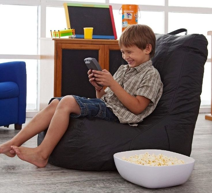 Kids Bean Bag Video Gaming Chair Boys Girls Bed Room Movie Reading Back Support #AceBayou