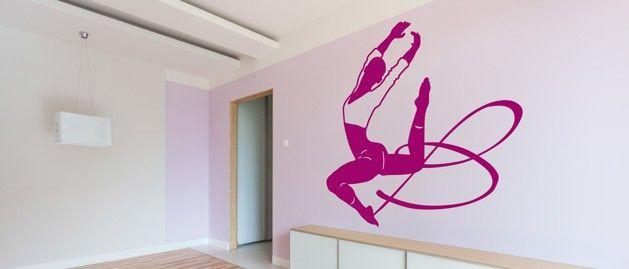 Moderní gymnastka (1157) / Samolepky na zeď, stěnu a nábytek