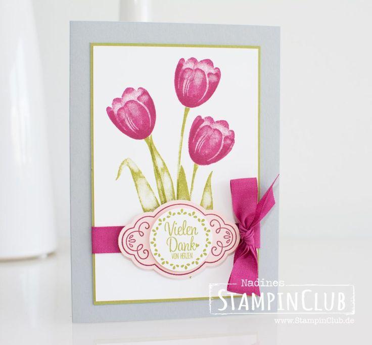 Stampin' Up!, StampinClub, Tanquil Tulips, Quartett fürs Etikett, Label me pretty
