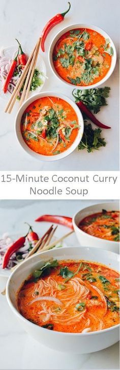 15 Minute Coconut Curry Noodle Soup Recipe by The Woks of Life