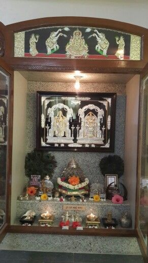 Indian tanjore style puja room