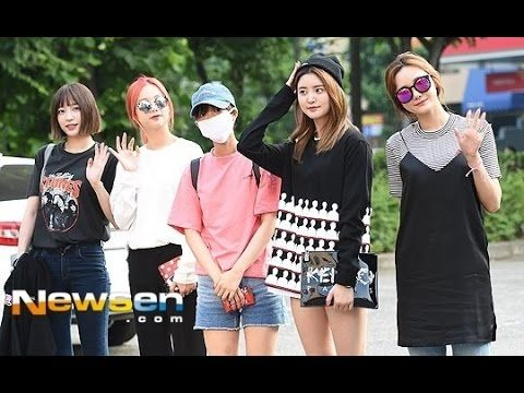 Hot Summer day in Seoul! EXID for the Music Bank with Casual Outfits