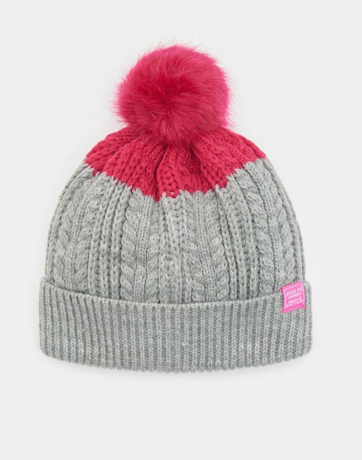Bobble True Pink Hat  | Joules US