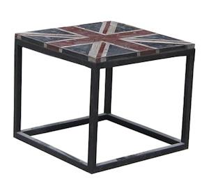 Union Jack metal end table