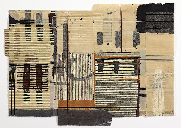 Factory Notebook, Mixed media on paper bound with waxed thread, 25 x 40 cm - Matthew Harris