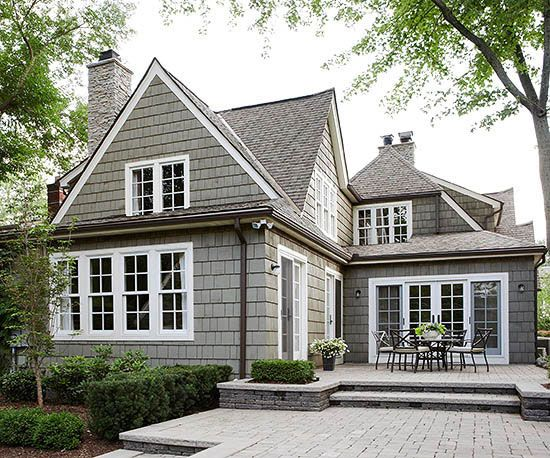gray, white, copper or brown gutters