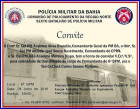 NONATO NOTÍCIAS: POLICIAL:  PASSAGEM DO COMANDO DO 6° BPM ACONTECE ...