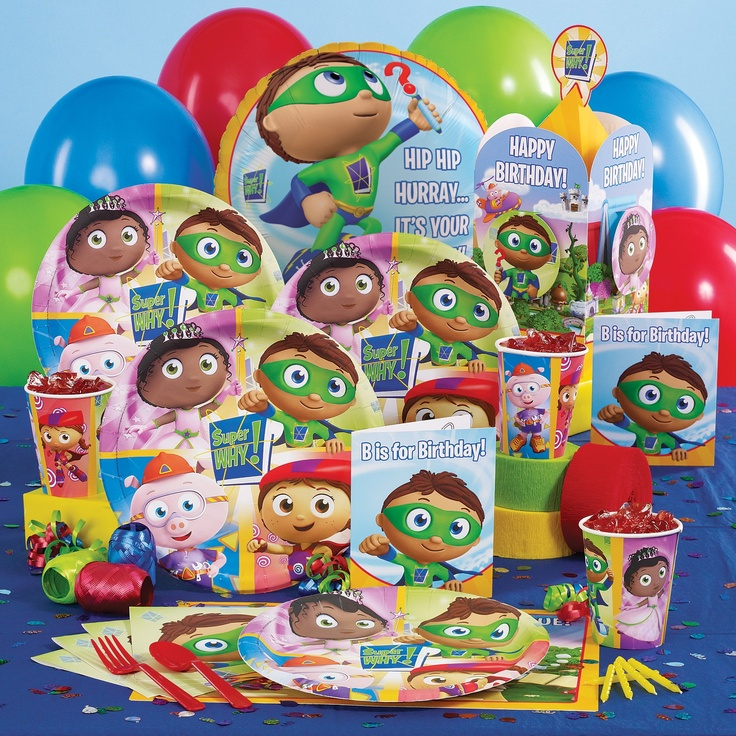 looks like it's goin to be a super why birthday party this year..