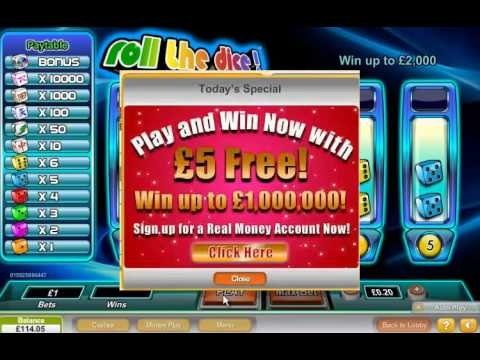 no deposit online casino dice and roll
