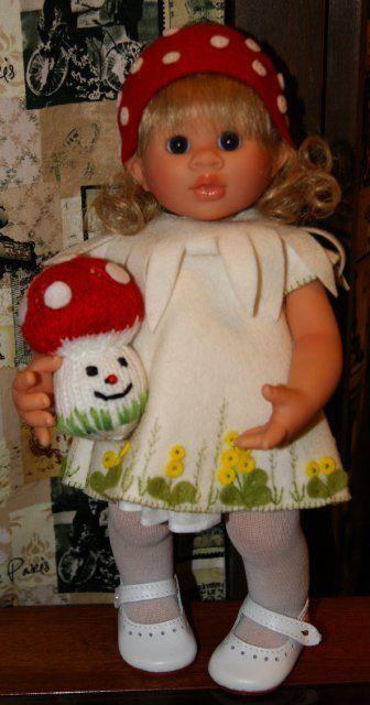 Еще одна студийная wichtel Fliegenpilz by Rosmarie Muller- смешная девочка с грибочком. / Коллекционные куклы (винил) / Шопик. Продать купить куклу / Бэйбики. Куклы фото. Одежда для кукол