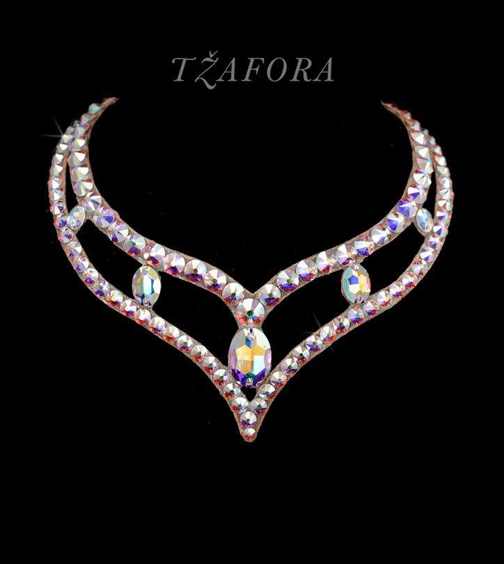 """Lost in the Stars"" - Swarovski ballroom necklace. Ballroom dance jewelry, ballroom dance dancesport accessories. www.tzafora.com Copyright © 2016 Tzafora."