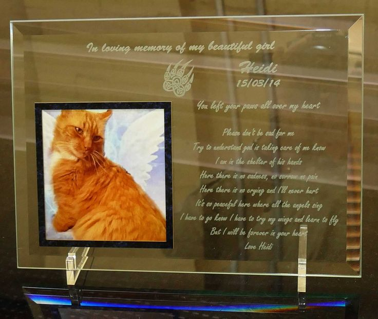 Glass memorial plate custom printed with your texts and photo/s of your loved one