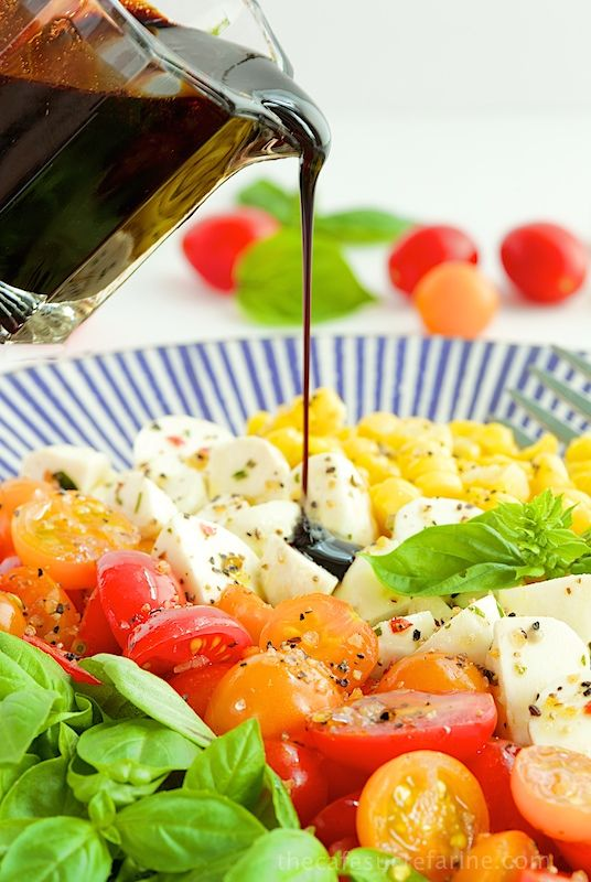 ... Salad Recipes, Caprese Salad, Corn Salads, De Silk Corn, Capri Salad