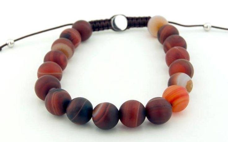 Brown Agatha Stone Bracelet,https://www.imperastraps.com