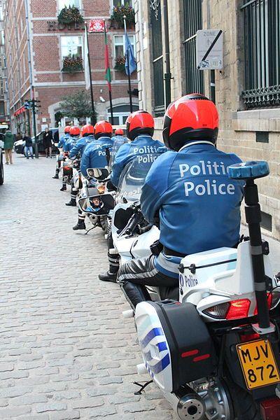 Police motocycliste de Bruxelles.
