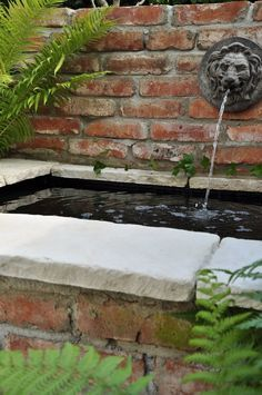 Pond on Pinterest | Ponds, Brick and Waterfalls