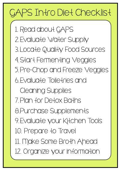 Preparing for GAPS Intro: My 12 Step Checklist : Oven Love