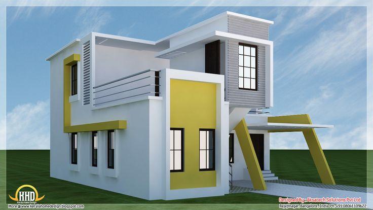 Modern house modern house plan modern houses for Simple modern house models 3d