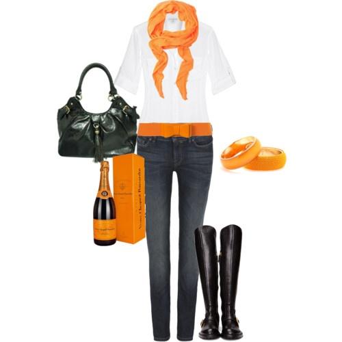 My favorite bright color...Veuve Clicquot orange...