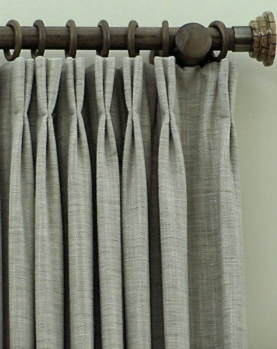 Pleated Window Curtains Pinch Pleated Drapes Pleated Pinch Pleat