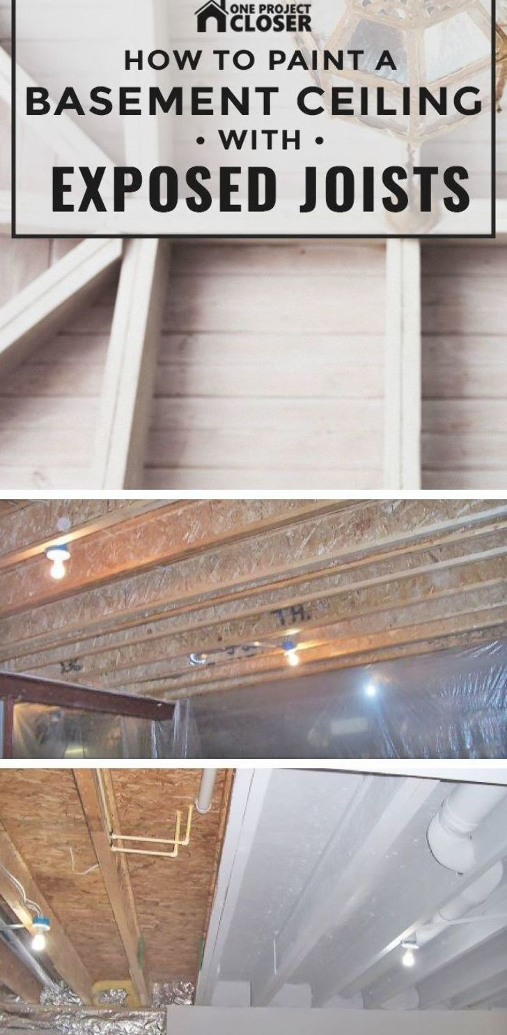 How To Paint A Basement Ceiling With Exposed Joists One Project Closer In 2020 Basement Ceiling Basement Bar Designs Basement Remodeling