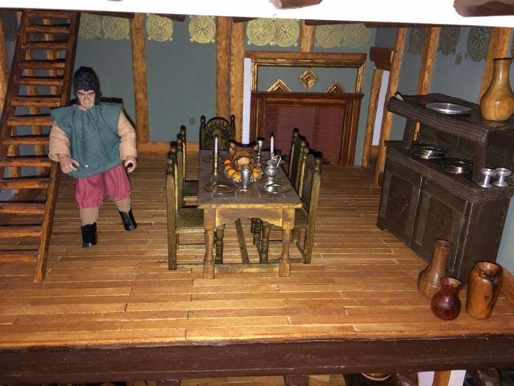 Gerry Welch Tudor Large Dolls House With Furniture and Accessories | eBay