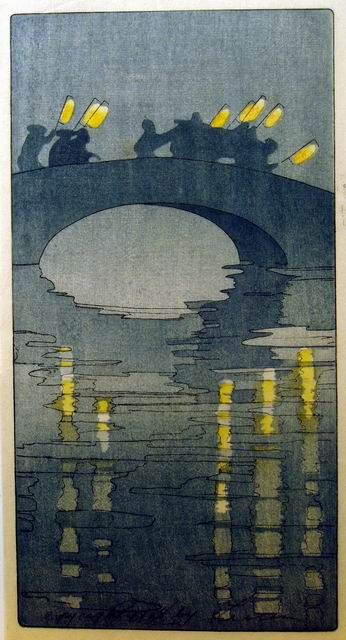 Woodblock prints (Estampes) :: Lanterns by Bertha Lum, 1906